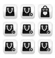 Shopping bag buttons set vector image vector image