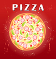 tasty pizza vector image