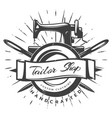 vintage black tailor label template vector image