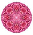 red mandala card or invitation pink wedding vector image