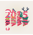 2015 New Year card design vector image vector image