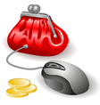 electronic purse vector image vector image