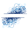 blue floral borders vector image