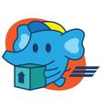 Elephant Express vector image