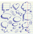 hand drawing on paper sheet vector image