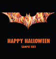 Happy Halloween with Isolated Fire Bat vector image