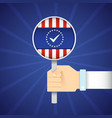 presidential election flat concept vector image