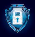 shield insurance vector image