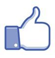 Thumb Up web icon vector image