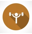 Weightlifter icon vector image