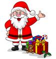Cute Santa with Gift vector image vector image