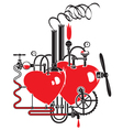 love factory vector image