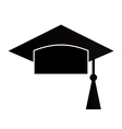 Mortar Board or Graduation Cap vector image vector image