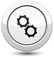 Button with Gear icon vector image