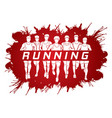 marathon runners group of men running with text vector image vector image