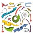Arrows colored icon vector image