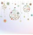 Stylized Christmas Balls On beige EPS 8 vector image vector image