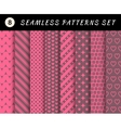 Romantic and love seamless patterns vector image