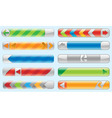 shiny internet buttons set vector image vector image