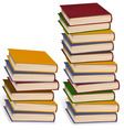 stack of colorful books vector image vector image