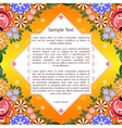 Gorodets painting on template greeting card vector image