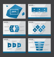 Blue presentation templates Infographic elements vector image