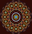 Australian Aboriginal Mandala vector image