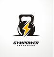 gym power logo design idea vector image