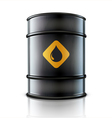 metal oil barrel vector image