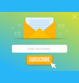 modern pop-up subscribe form for your website and vector image