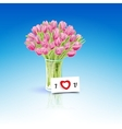 Present flowers vector image