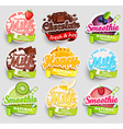 Set of nine labels splash vector image