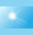 Sun flare vector image