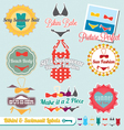 Bikini and Swimsuit Labels vector image vector image