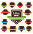 Set of blank retro vintage badges and labels vector image