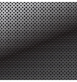 pattern of perforation metal background vector image vector image