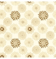 Beautiful beige line flowers vector image vector image