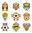 Set of sports soccer football badges vector image