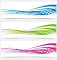 Modern abstract swoosh smooth vivid dotted line vector image