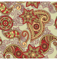 seamless hand drawn paisley vector image