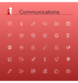 Communications Line Icons vector image vector image