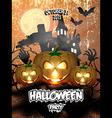 Halloween Party Flyer 2 vector image