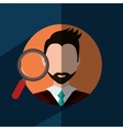 Find person to get a job vector image