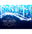 Blue glowing Christmas lights vector image