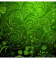 Green vivid floral pattern vector image