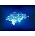 Honduras country map polygonal with spot lights vector image