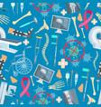 medicine surgery health seamless pattern vector image