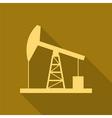 Oil derrick gold vector image