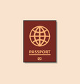 passport color flat icon vector image