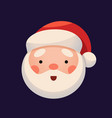 santa claus face on dark background sticker jolly vector image